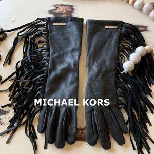 Michael KORS | Fringe Leather Gloves